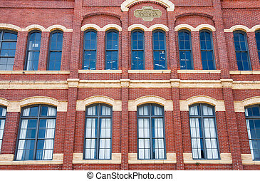 Arched Windows in Old Brick wall