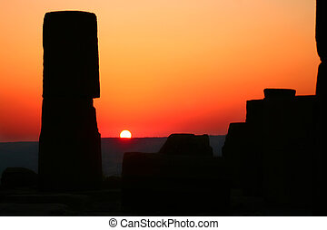 Archeologic Landmark At Sunset - A part of Temple Of Athena...