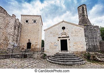 Archeological museum in Old Town, Ulcinj, Montenegro