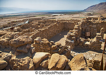 Archeological site, Qumran, Israel. - Dead Sea Scrolls,...