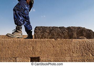 archeologiczne umieszczenie, w, jemen