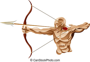 Archer illustration - An illustration of a strong muscular...