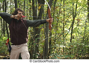 archer in the wood