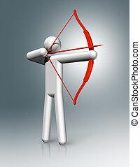 Archery 3D symbol
