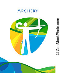 Archery Archer athlet Olympic Games Rio Brazil Summer sport...