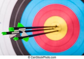 Archery - Arrows in archery target