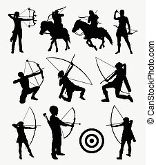 Archery dart people silhouette - Archery dart people male...