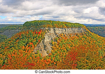 Archery Field at Letchworth State Park, NY - Autumn scene at...