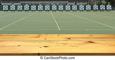 Archery field for the competition