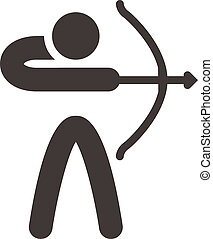 Archery icon - Summer sports icons set - Archery icon