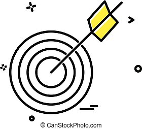 archery icon vector design