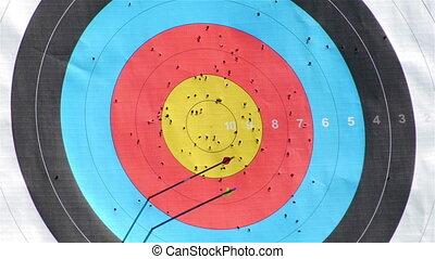Archery in target