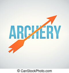 Archery Logo Design Template, vector illustration isolated on white background.