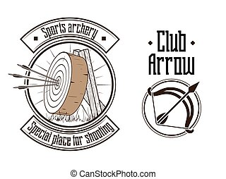 Archery logo vector illustration