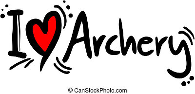 Archery love - Creative design fo archery love