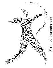 Archery pictogram on white background - Archery pictogram...