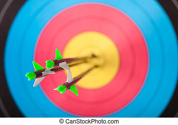 Archery - Arrows in archery target