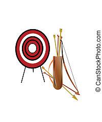 archery set on white
