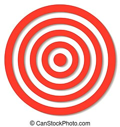 Archery target - Illustrated archery target icon with...