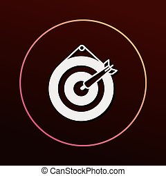 Archery target icon