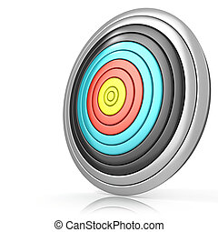 Archery target, isolated on white