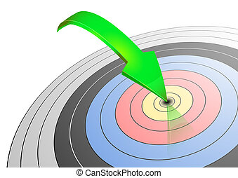 archery target - illustration of an archery target with a...