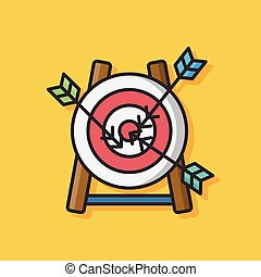 Archery target vector icon