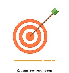 Archery target with arrow icon
