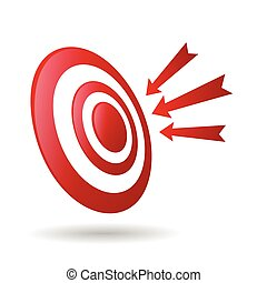 Archery Target With Arrows Archer Sport Game Competition Icon