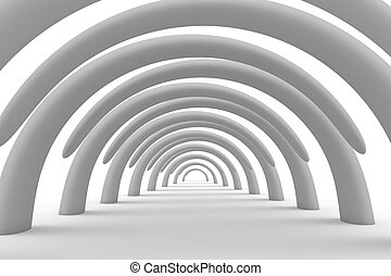 Arches - Corridor of arches to the perspective