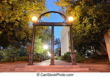 Arches - Historic steel archway on the campus of the ...