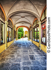 arches in Florence in hdr