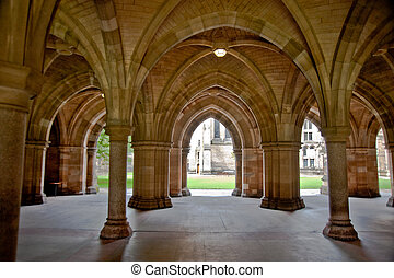 Glasgow University - Arches in Glasgow University