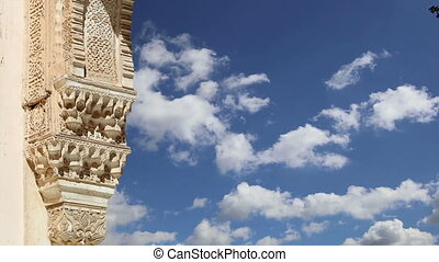 Alhambra, Granada, Spain - Arches in Islamic (Moorish) style...