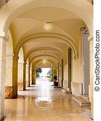 arches in Salou Tarragona beach boulevard Catalonia Spain