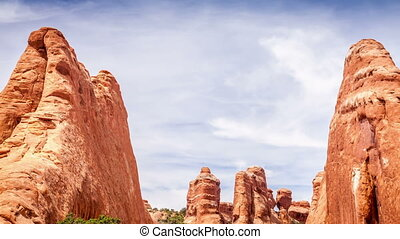Arches National Park, Utah - Entering trail leading to the...
