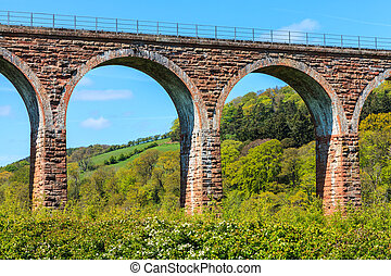 Arches of a bridge in detail