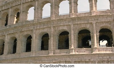 Arches of Colosseum. Beautiful ancient building. History of...