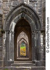Arches of Old Church of Dunlewey, Ireland