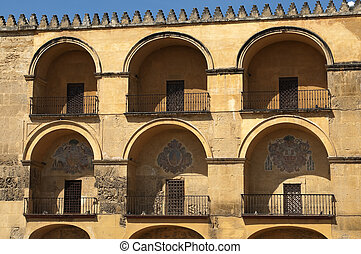 arches of the mosque in Cordoba, Andalusia, Spain