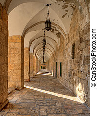 Arches on the Temple Mount at the Old City of Jeruaselm