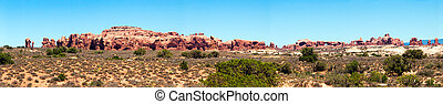 Arches Panorama - Panoramic sweep at Arches National Park...