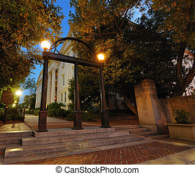 Arches - Historic steel archway on the campus of the...