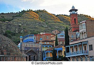 Archeticture of old Tbilisi, city of Georgia