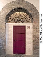 archi, porta, rosso