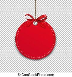 archi, trasparente, etichetta, corda, sfondo rosso