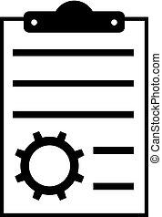 archief, config, pictogram