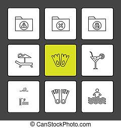 archief, folders, set, iconen, globe, eps, vector, sterretjes, wereld