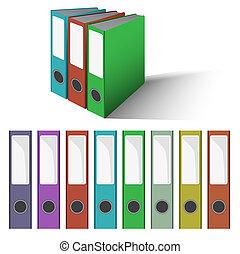 archief, folders, vector