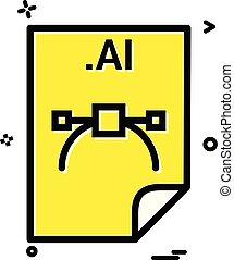 archief, formaat, ai, toepassing, vector, ontwerp, bestand, downloaden, pictogram